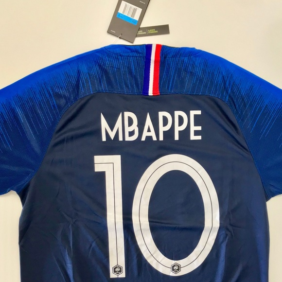 445a054f7ee NEW MBAPPE FRANCE HOME 2 STARTS SOCCER JERSEY